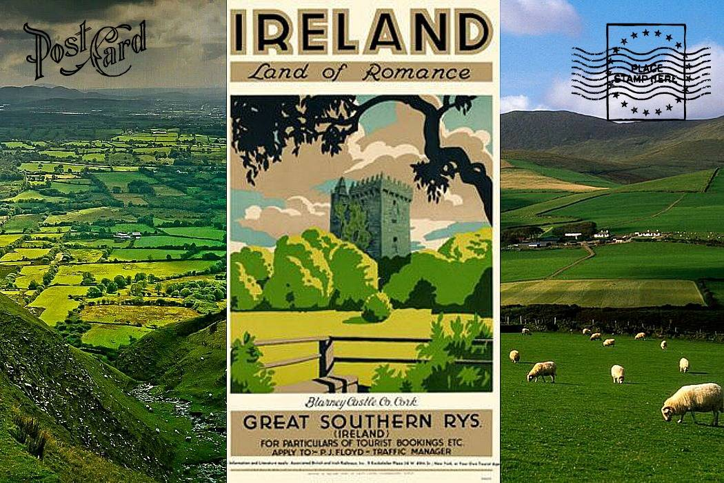 Ireland postcard.Ireland post on tamariandme.com Blog. Tamari Slonim Libes