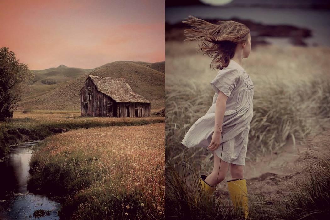 בית קטן בערבה, ילדה בשדה. מתוך הבלוג Tamari and me של תמרי סלונים ליבס פוסט: בית.