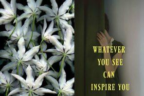 סוד, אישה מאחורי דלת, פרחים לבנים מתוך הבלוג Tamari and me של תמרי סלונים ליבס פוסט: סודות
