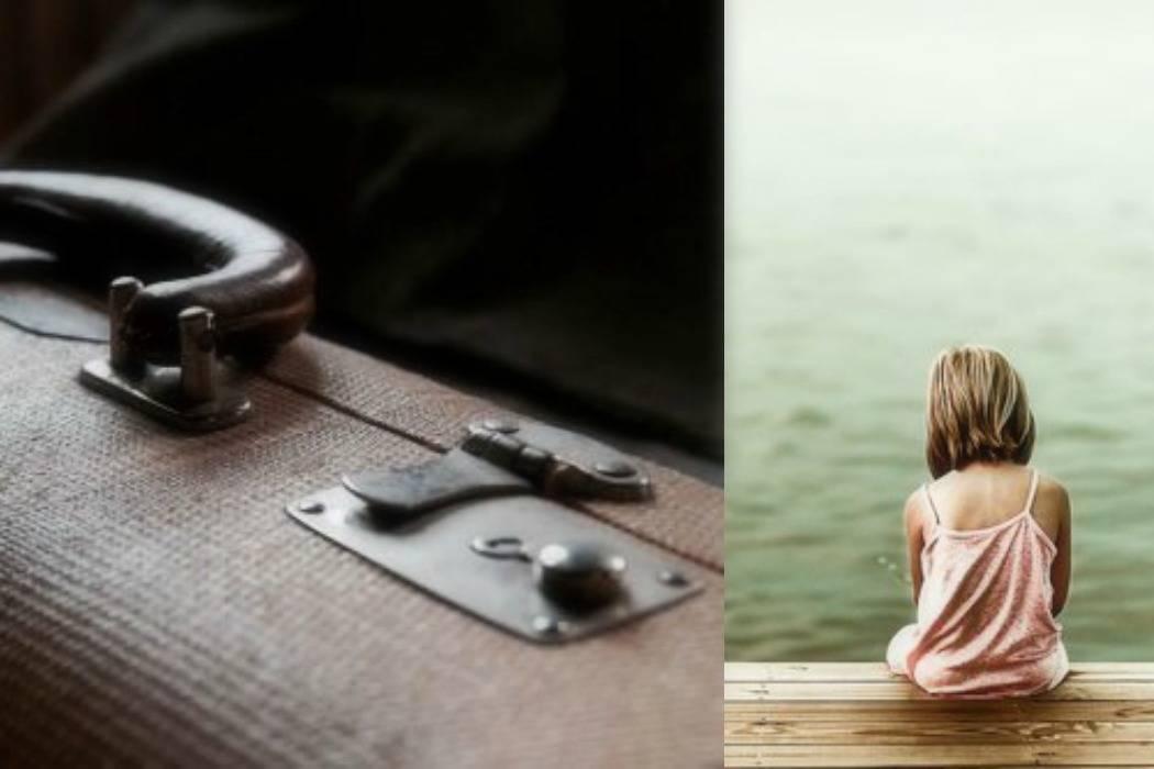 סוד, מזוודה, ילדה ליד הים מתוך הבלוג Tamari and me של תמרי סלונים ליבס פוסט: סודות